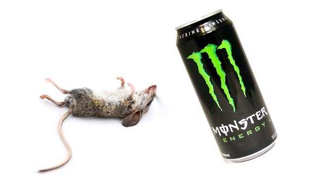 Picture about Man Finds Dead Mouse in Can of Monster Energy Drink