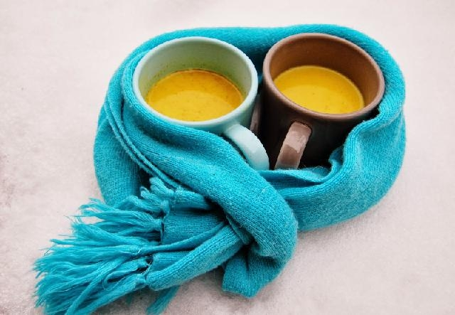 Picture about Golden Turmeric Milk Provides Many Health Benefits