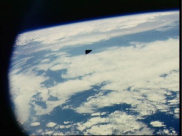 Picture about NASA Astronaut Snaps Photo of A Triangular UFO in Space
