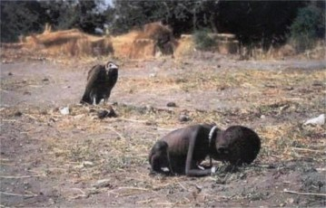 Picture about Pulitzer Prize Photographer of Vulture Stalking a Starving Girl Committed Suicide
