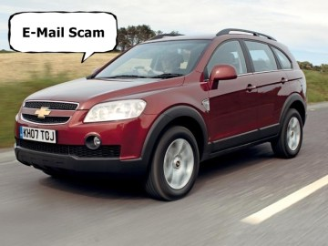 Picture about Chevrolet Motors Lottery Prize Email Scam