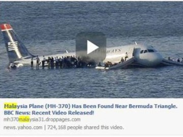 Picture about Missing Malaysia Airlines Flight MH370 Found Videos