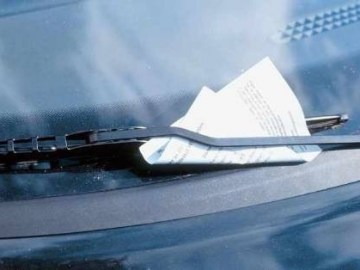 Picture about Warning from Police - Carjacking with Paper on Back of Car