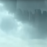 Picture Showing Parallel Universe; Mysterious City Floating in the Clouds Over Foshan Guangdong, China