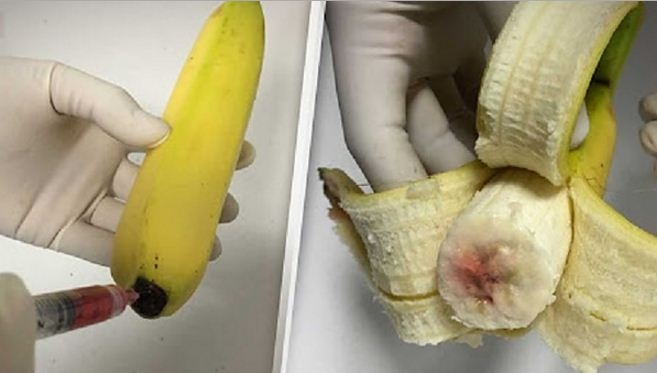 Bananas Injected with HIV-Infected Blood Worldwide: Hoax