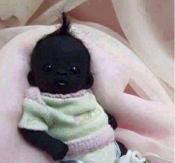 Image about Picture of Darkest Baby in the World