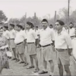 Picture of RSS Volunteers Saluting British Queen