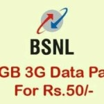 Picture Suggesting BSNL Offering 20GB 3G Data Offer for Just Rs 50