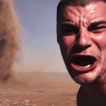 Picture about Video of a Crazy Guy Running into Outback Tornado to Take Selfie