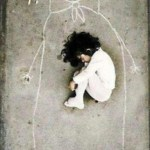 Image about Little Orphan Girl Drew a Picture of her Mother on Floor and Fell Asleep With Her