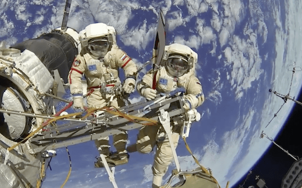 Picture Suggesting Astronauts Freaked Out During Spacewalk as Alien UFOs Fly Past ISS