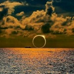 Image about Picture of Sunset Eclipse Over South Pacific Ocean