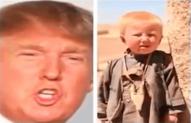 Picture Suggesting Donald Trump Born in Pakistan as Dawood Ibrahim Khan, Childhood Photo