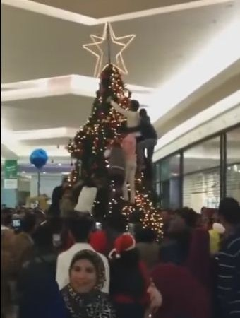 Muslims Attack a Christmas Tree in American Mall, Video: Fact Check
