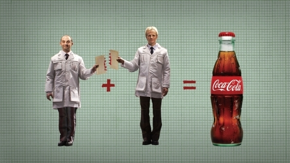 Picture Suggesting Only Two Coca-Cola Executives Know Coke's Secret Recipe Formulation