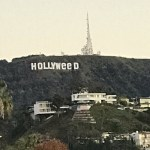 Picture Showing Iconic Hollywood Sign Changed to Read 'Hollyweed'