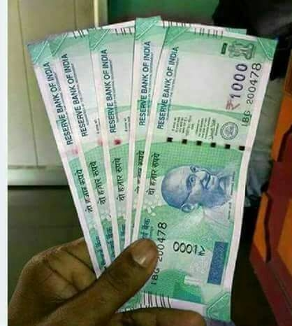 Picture of RBI Released New Currency Notes of Rs 1000, 100, 50 and 20