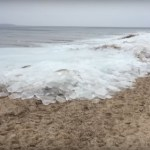 Picture Showing Ice Cubes Washed Over Tiruchendur Seashore in Hot Summer