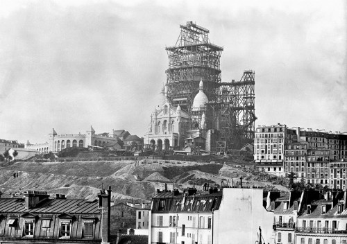 Original, Black and White Picture of Sacre-Coeur Bell Tower
