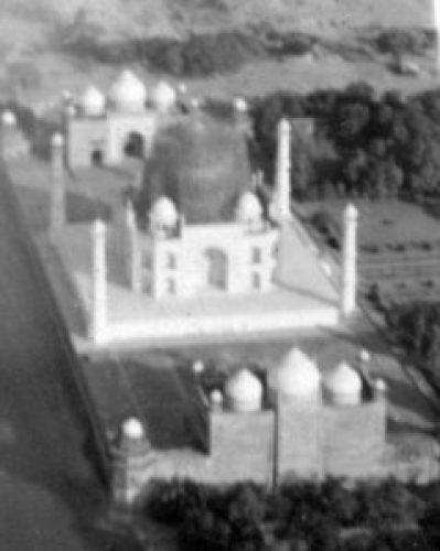 Aerial Picture of Protected Taj Mahal