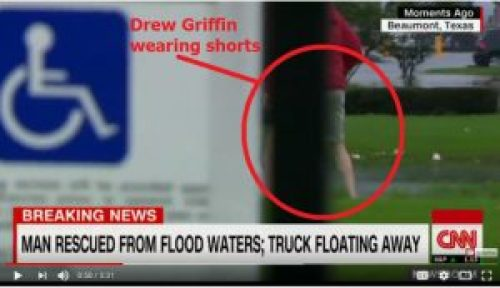 Picture of Alleged CNN Reporter Drew Griffin in Khakhi Shorts Before Rescue
