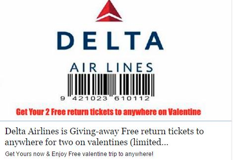 Beware of Free Airline Tickets Scam on Social Media