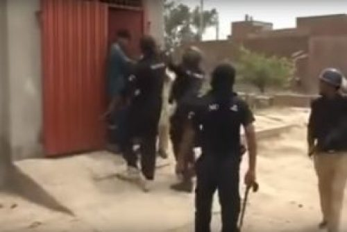 Picture of Pakistani Punjab Police Beating Public after Protests