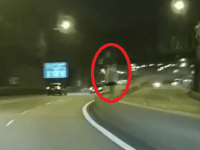 Alleged picture of Dashcam Captures Ghost Girl on Singapore Road