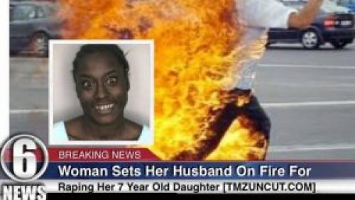 Image about Woman Sets Husband on Fire for Raping Her 7-Year-Old Daughter