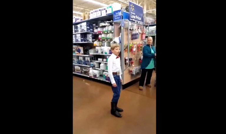 Image Suggesting 11 Year Old Boy Yodeling in Walmart Store Arrested
