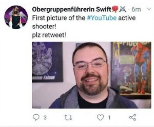 Picture Allegedly Showing Active Shooter at YouTube Headquarters Identified