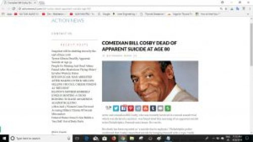 Screenshot of the article on Action News website