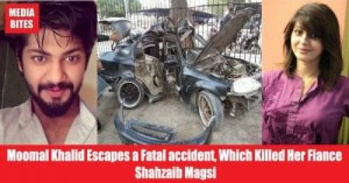 Image about Moomal Khalid Car Accident, Killing her Fiance' Shahzeb Magsi
