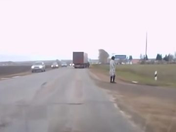 Image about Mysterious Man Teleports Onto Busy Russian Road