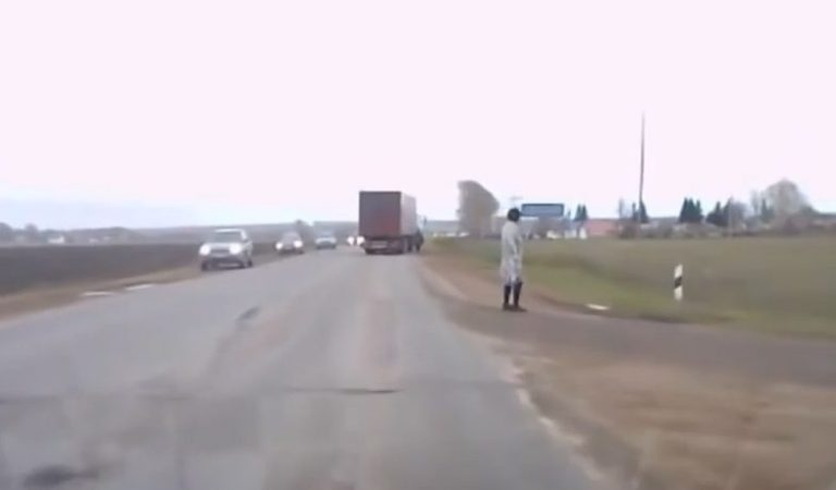 Mysterious Man Teleports Onto Busy Russian Road: Fact Check