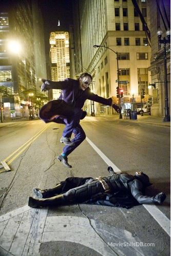Original picture of Joker and Batman without the Skateboard