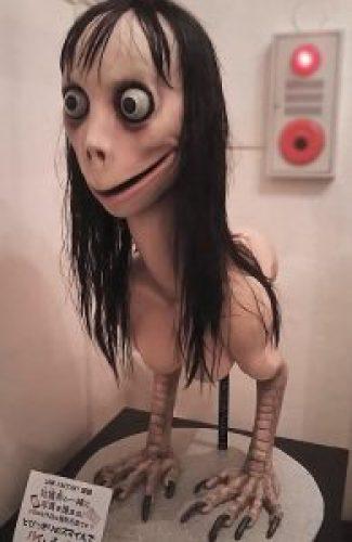 Creepy Momo Challenge Image, actually Art-doll