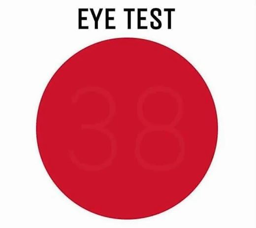 Image about Red Circle Eye Test to Check Your Vision