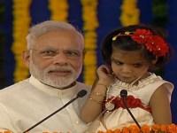 Image about Narendra Modi Asking Child to Say Rahul Gandhi Pappu