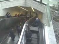 Image about Escalator Swallows Man, Terrifying CCTV Footage