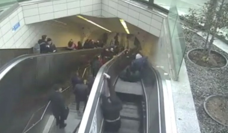 Escalator Swallows Man, Terrifying CCTV Footage: Fact Check