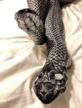 Image about Husband Mistakenly Beats Woman Wearing Snake Stockings