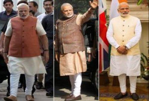 Image of PM Narendra in 'Modi Kurta'