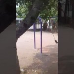 Image about Real Ghost Caught Swinging in Delhi Park