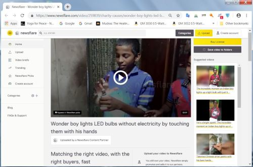 Screenshot of article on Newsflare website