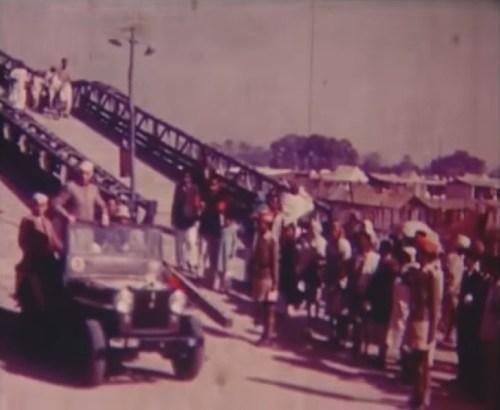 Image of Jawaharlal Nehru Checking Kumbh Mela Preparations in 1954