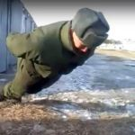 Image about Russian Soldier Performs No Hands Push Ups, Video