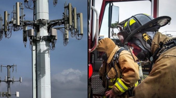 Image about 5G Towers Damage Firefighters Brains in Sacramento