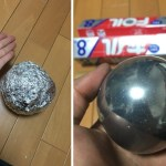 Image about Microwave Tinfoil Into Sphere Smooth Ball Within Minutes
