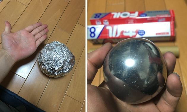 Microwave Tinfoil Into Sphere Smooth Ball Within Minutes: Fact Check